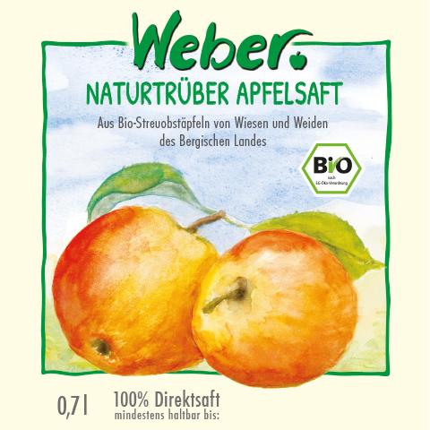 Naturtrüber Bio-Apfelsaft