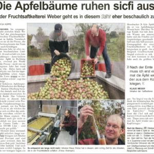 Die Apfelbäume ruhen sich aus