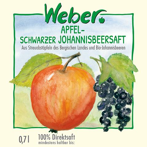 Apfel-schwarzer Johannisbeersaft