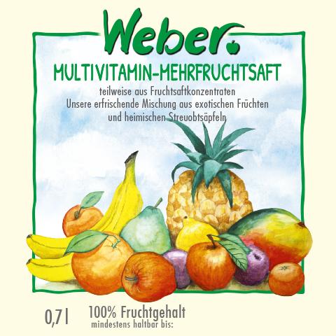 Multi-Vitamin-Mehrfruchtsaftsaft